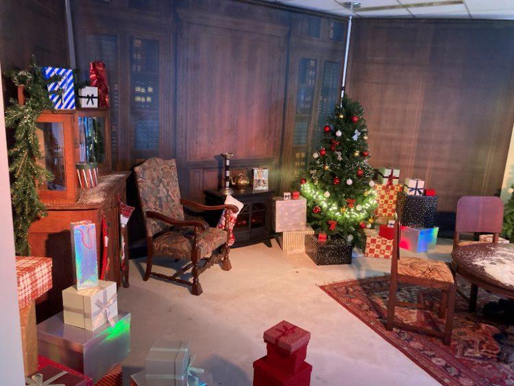 Kerstman huis inrichten winkelcentrum