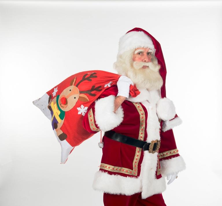 Kerstman met kerstmutsen