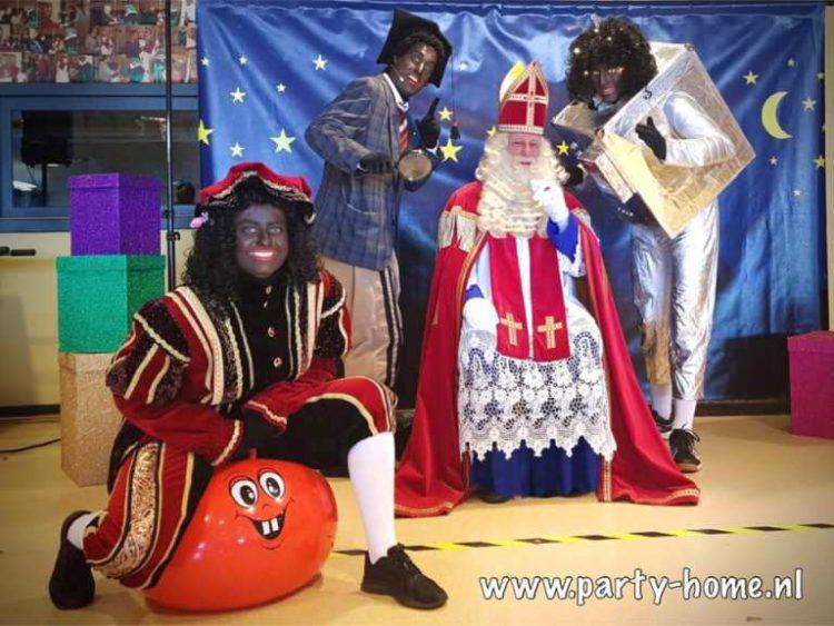 Sinterklaasshow op het bedrijf