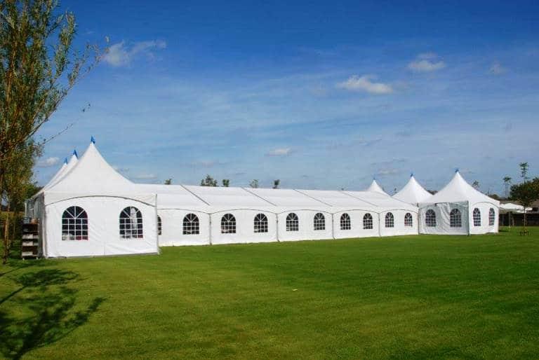 luxe aluminium tent huren