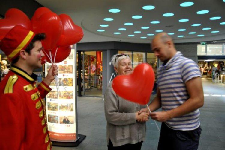 ballonnen uitdeelactie