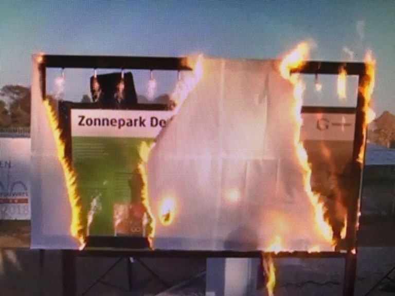 Flashbord voor onthulling