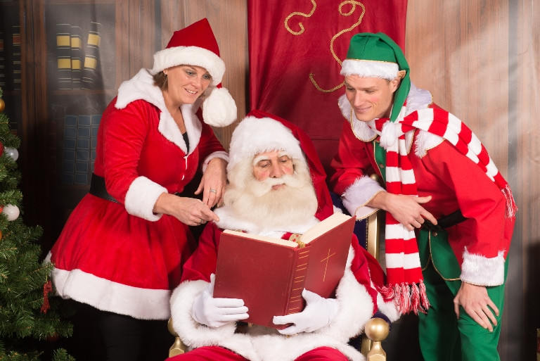 op de foto met de kerstman