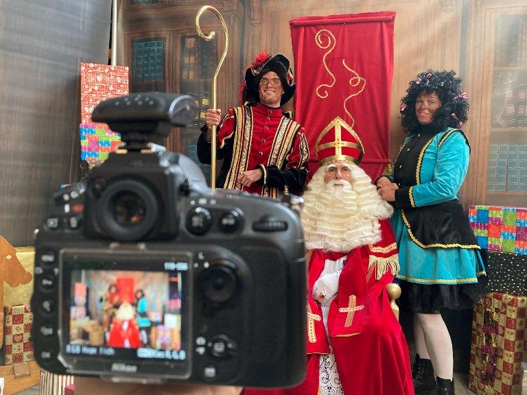 fotoactie, op de foto bij Sinterklaas