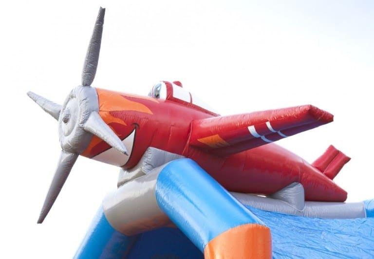 vliegtuig springkussen